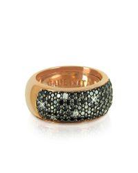 Azhar - Metallic Black Cubic Zirconia Silver Vermeil Ring - Lyst