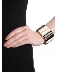 BaubleBar - Black Twotone Piano Bracelet - Lyst