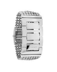 DKNY - Metallic Crystal Frame Bracelet Watch - Lyst