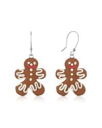 Dolci Gioie - Red Gingerbread Man Earrings - Lyst