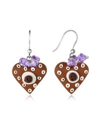 Dolci Gioie - Brown Heart Cake Earrings - Lyst