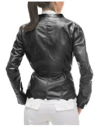 FORZIERI | Black Leather Lightweight Belted Jacket | Lyst
