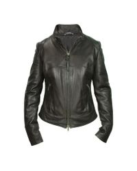 FORZIERI | Black Natural Leather Motorcycle Jacket | Lyst