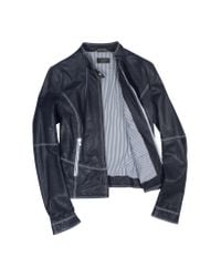 FORZIERI | Blue Motorcycle Leather Jacket | Lyst
