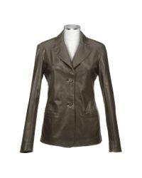 FORZIERI - Women's Coffee Brown Italian Leather Blazer - Lyst