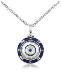 FORZIERI - Metallic Stainless Steel Cardinal Points & Rudder Pendant Necklace - Lyst