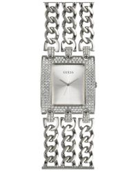 Guess | Metallic Autograph - Crystal Signature Mirror Dial Watch | Lyst