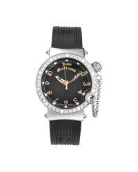 John Galliano - Black L'Elu - Ladies' Jeweled Stainless Steel Dress Watch - Lyst