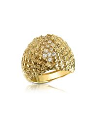 Just Cavalli - Metallic Just Live Gold Plated Crystal Ring - Lyst