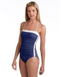 Lauren by Ralph Lauren | Blue Bel Aire Onepiece Swimsuit | Lyst