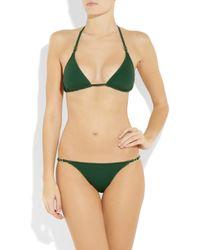 Melissa Odabash | Green Denver Triangle Bikini | Lyst