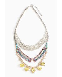 Nasty Gal - Multicolor Sungaze Crystal Necklace - Lyst