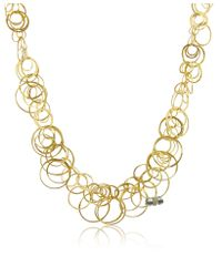 Orlando Orlandini - Scintille - Diamond 18k Yellow Gold Chain Necklace - Lyst