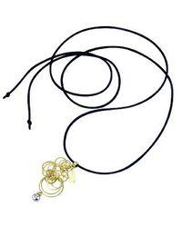 Orlando Orlandini - Metallic Star - 18k Gold Circles Pendant W/ Diamond - Lyst