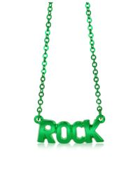 Patrizia Pepe - Green Brass Rock Necklace - Lyst