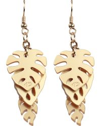 Tatty Devine - Metallic Hot House Leaves Triple Earrings - Lyst