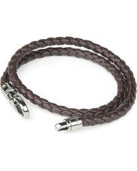 Tod's - Brown My Colours Plaited Leather Bracelet for Men - Lyst