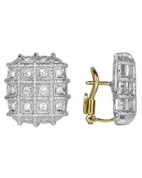 Torrini | Metallic Wallstreet Collection - 18k White Gold Diamond Earrings | Lyst