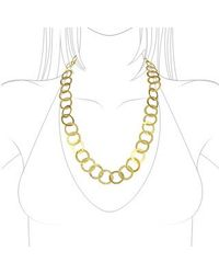 Torrini - Tuscania - 18k Yellow Gold Large Chiselled Chain - Lyst