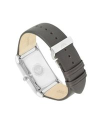 Emporio Armani - Brown Leather Dress Watch for Men - Lyst