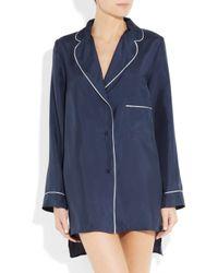 Marni | Blue Silk Pajama Shirt | Lyst