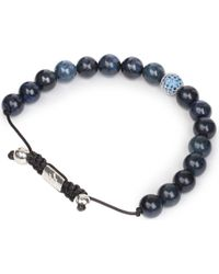 Nialaya | Blue Coral and Silver Bracelet for Men | Lyst