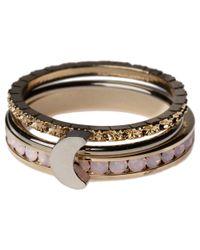 Orelia - Pink Moon Stacker Ring Set - Lyst