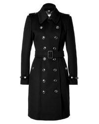 Burberry - Black Wool Cashmere Duncannon Coat - Lyst