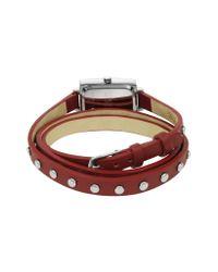FORZIERI   Nina - Red Leather Wrap Bracelet Watch   Lyst