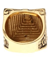 Han Cholo - Metallic Mayan Ring for Men - Lyst