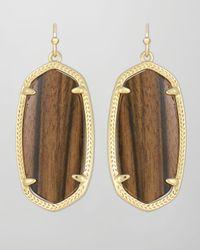 Kendra Scott - Black Elle Earrings - Lyst