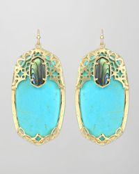 Kendra Scott | Blue Deva Earrings  | Lyst