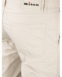 Kiton - Natural Classic Chinos for Men - Lyst