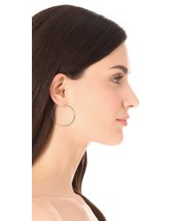 Michael Kors Metallic Brilliance Pave Hoop Earrings