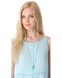 Michael Kors | Blue Seaside Luxe Pendant Necklace | Lyst