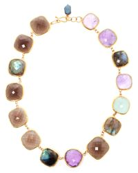 Ram - Multicolor Amethyst, Aquamarine, Labradorite And Smoky Quartz - Lyst