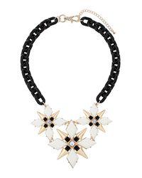 TOPSHOP - Multicolor Mono Flower Collar Necklace - Lyst