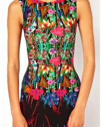 ASOS | Multicolor Reflection Floral Sleeveless Midi Dress | Lyst