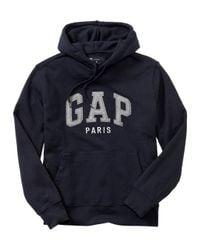 Gap - Blue Paris Arch Logo Hoodie for Men - Lyst