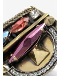 Iosselliani | Metallic Deco Stone Ring | Lyst