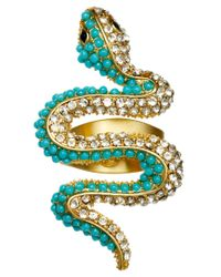 Kenneth Jay Lane - Blue Snake Ring - Lyst