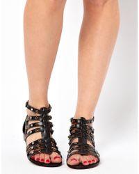 ALDO - Brigida Black Stud Gladiator Sandals - Lyst