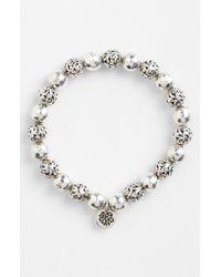 Lois Hill | Metallic Classics Bead Stretch Bracelet | Lyst