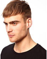 River Island - Metallic Stars Stripes Earrings in 4 Pack for Men - Lyst