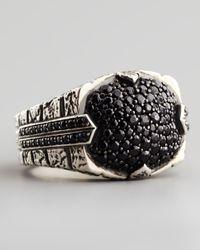 Stephen Webster | Metallic Pave Black Sapphire Ring | Lyst