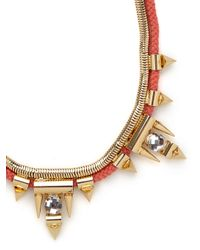 BaubleBar | Orange Cerise Arrowhead Collar | Lyst