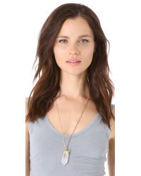 Heather Hawkins | Metallic Crystal Point Necklace | Lyst