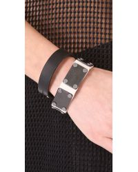 Rag & Bone - Black Cardinal Bracelet - Lyst