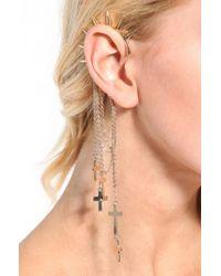 AKIRA | Metallic Spike Cross Ear Cuff  | Lyst