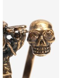 Alexander McQueen - Metallic Skull and Bee Ring - Lyst
